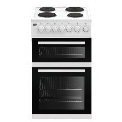 Beko EDP503W 50Cm End Of Line Solid Plate Double Oven