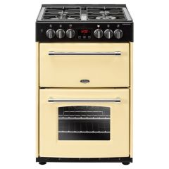 Belling 60Df Farmhouse Cream 60Cm 39L 69L Double Oven Fan With Lid