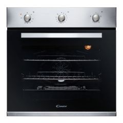 Candy Fcp403x/E S/S Single Oven - A Rated - 65L - Minute Minder