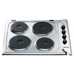 Hotpoint E601x - Stainess Steel - Solid Plate Hob - H34 W58 D51