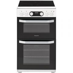 Hotpoint HD5V93CCW W:50Cm - Cat Liner - Double Oven - Ceramic