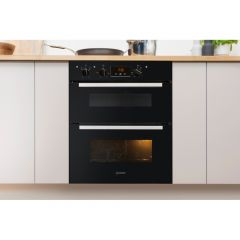 Indesit IDU6340BL B/U Double Oven
