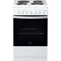 Indesit IS5E4KHW 50Cm, Single Cavity, Solid Plate