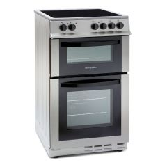 Montpellier MDC500FS 50Cm Ceramic Silver Cooker With Double Oven
