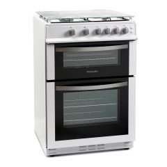 Montpellier MDG600LW 60Cm Double Oven Gas Cooker