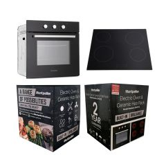Montpellier SFCP10 Electric Oven And Ceramic Hob Pack