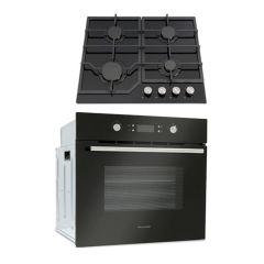 Montpellier SFOP94MFGG Electric Single Oven / Black Gas On Glass Hob
