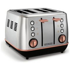 Morphy Richards 240116 Stainless Steel And Rose Gold 4 Slice Toaster