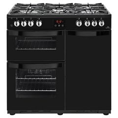 Newworld Vision 90Df 90Cm 62L 91L Range Cooker Dual Fuel Black/Stainless Steel