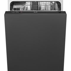 Smeg DI12E1 Integrated Full Size Dishwasher - Black Control Panel - F  Energy Rated