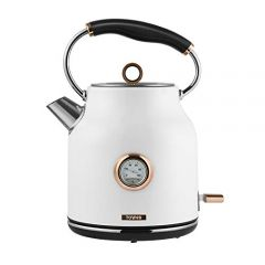 Tower Towt10020w Bottega Rapid Boil Traditional Kettle, Stainless Steel, 3000 W, 1.7 L