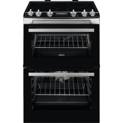 Zanussi Zci66278xa  60Cm Double Oven Electric Cooker A Energy Rated, Main Oven 77 Litre Ca