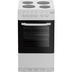 Zenith ZE503W 50Cm Single Oven Electric Cooker With Solid Plate - Hob White - A Energy Rated