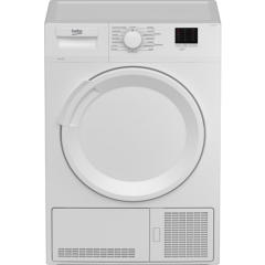 Beko DTLCE80041W 8Kg Condenser Tumble Dryer - White - B Energy Rated