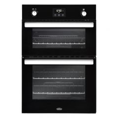 Belling Bi902g Black Built In Doulble Gas Oven
