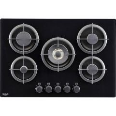Belling GTG75C 75 Gas On Glass Hob With 5 Rings