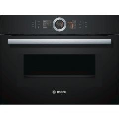 Bosch CMG656BB6B Compact Black Oven With M/W Serie 8