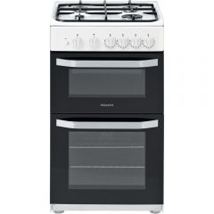 Hotpoint Hd5g00kcw 50Cm Gas Twin Cooker With Gas Hob