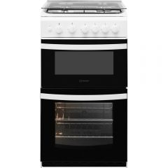Indesit ID5G00KMW 50Cm Twin Cavity Gas Cooker (No Lid)