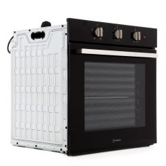 Indesit IFW6330BL 66L Min Minder Black Single Oven