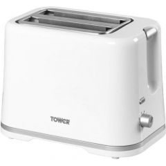 Tower T20009W 2 Slice White Toaster
